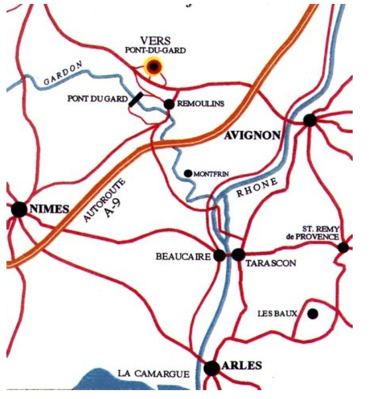 map of vers